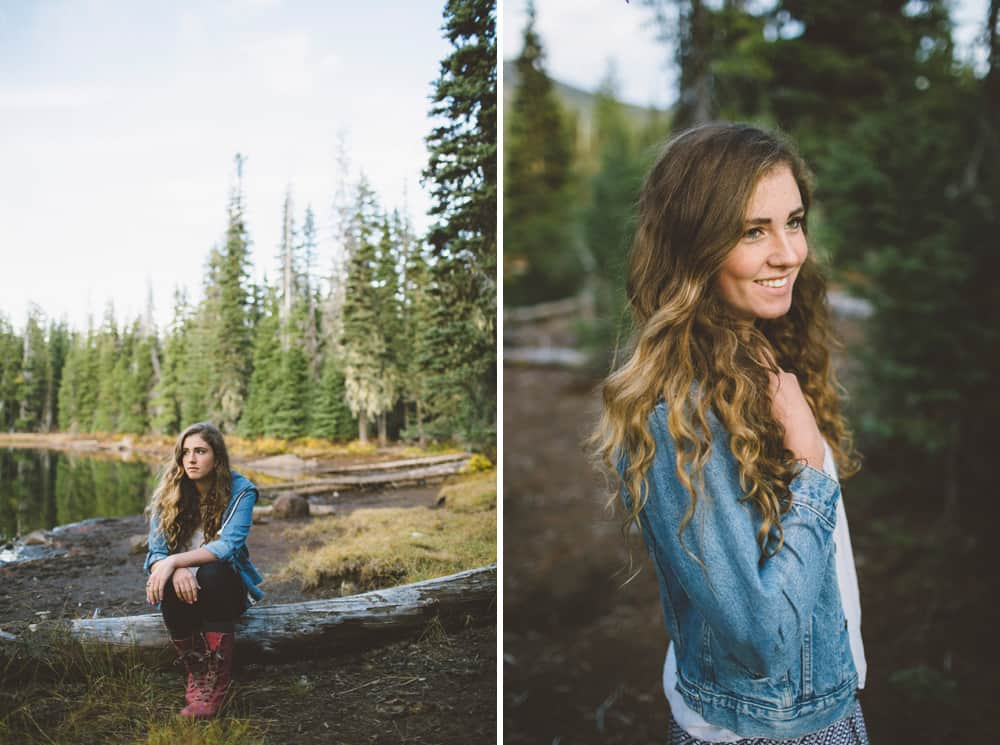 Central Oregon Sisters Bend Senior Session Outdoor Lake Lava Flow Adventure 002