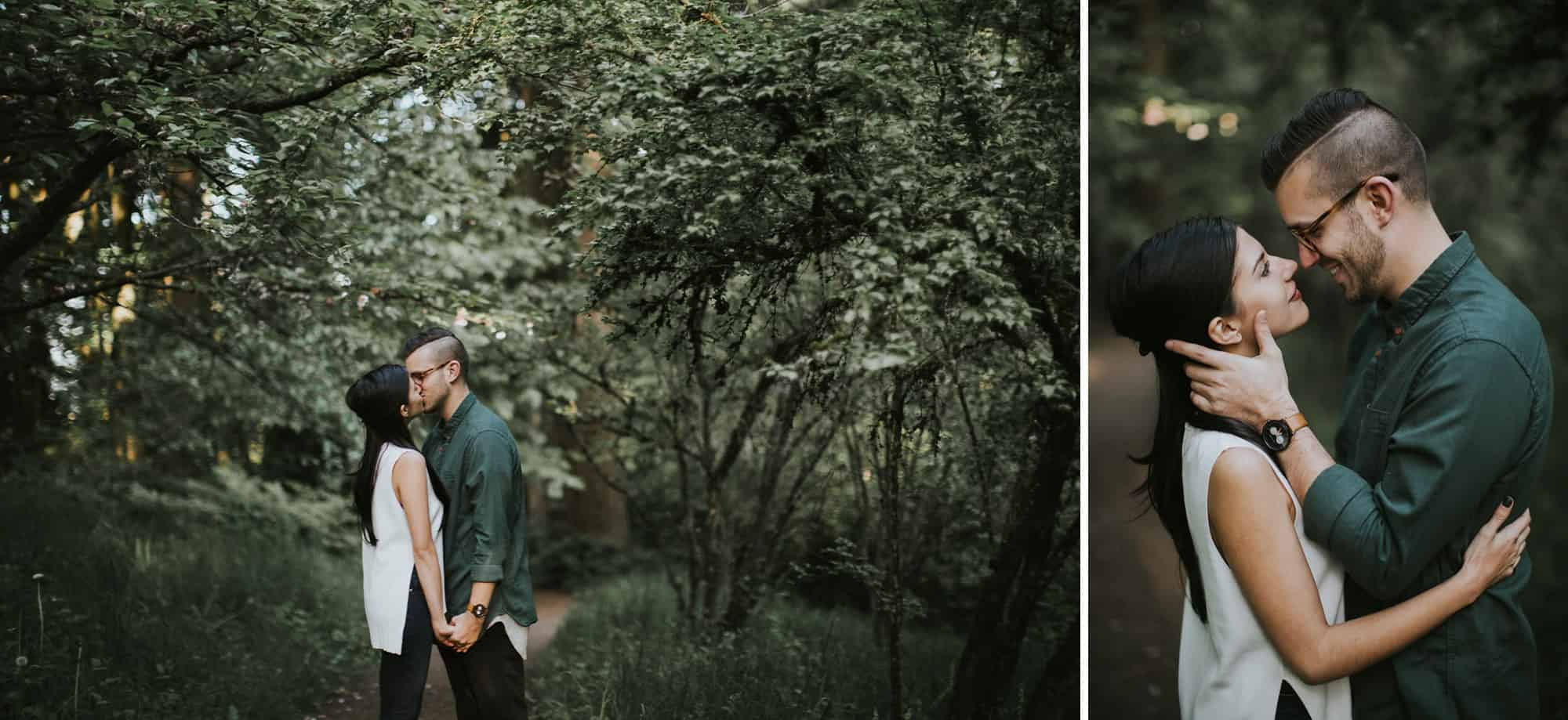 Portland Oregon Hoyt Arboretum Engagement Session 0016