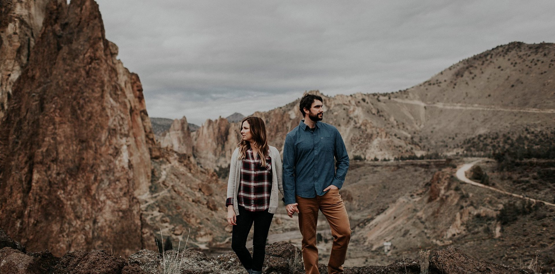 Heather + Aaron || Oregon Desert Engagement