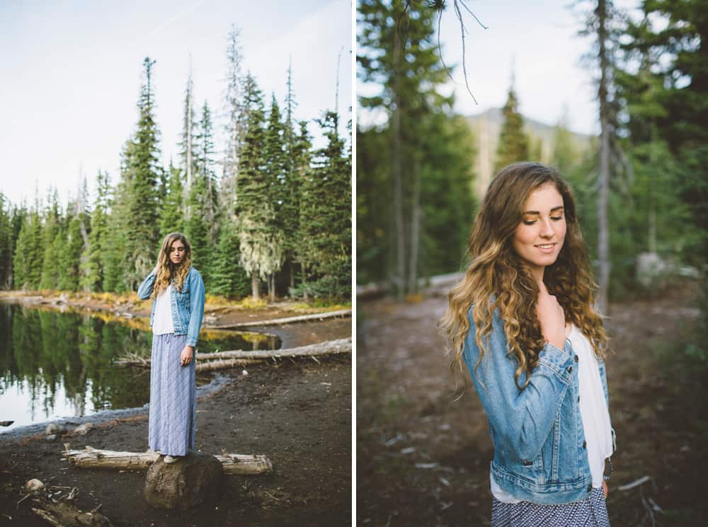 Central Oregon Sisters Bend Senior Session Outdoor Lake Lava Flow Adventure 004