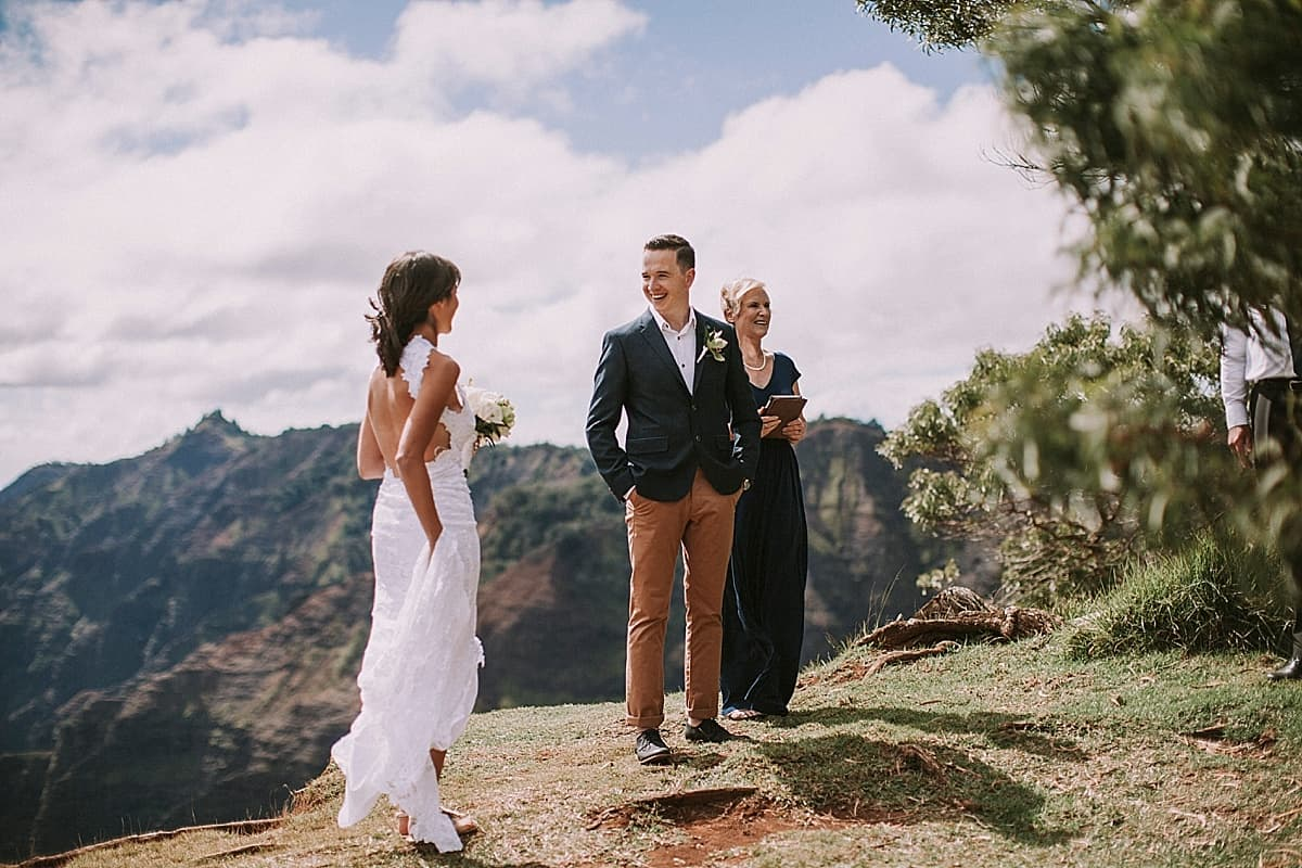 Kauai Waimea Canyon Hawaii Wedding Elopement 0004