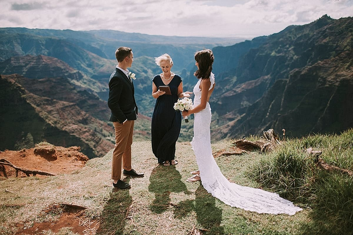 Kauai Waimea Canyon Hawaii Wedding Elopement 0005