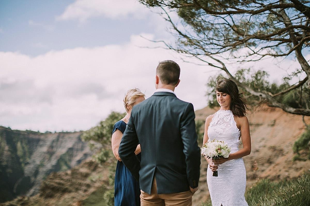 Kauai Waimea Canyon Hawaii Wedding Elopement 0006