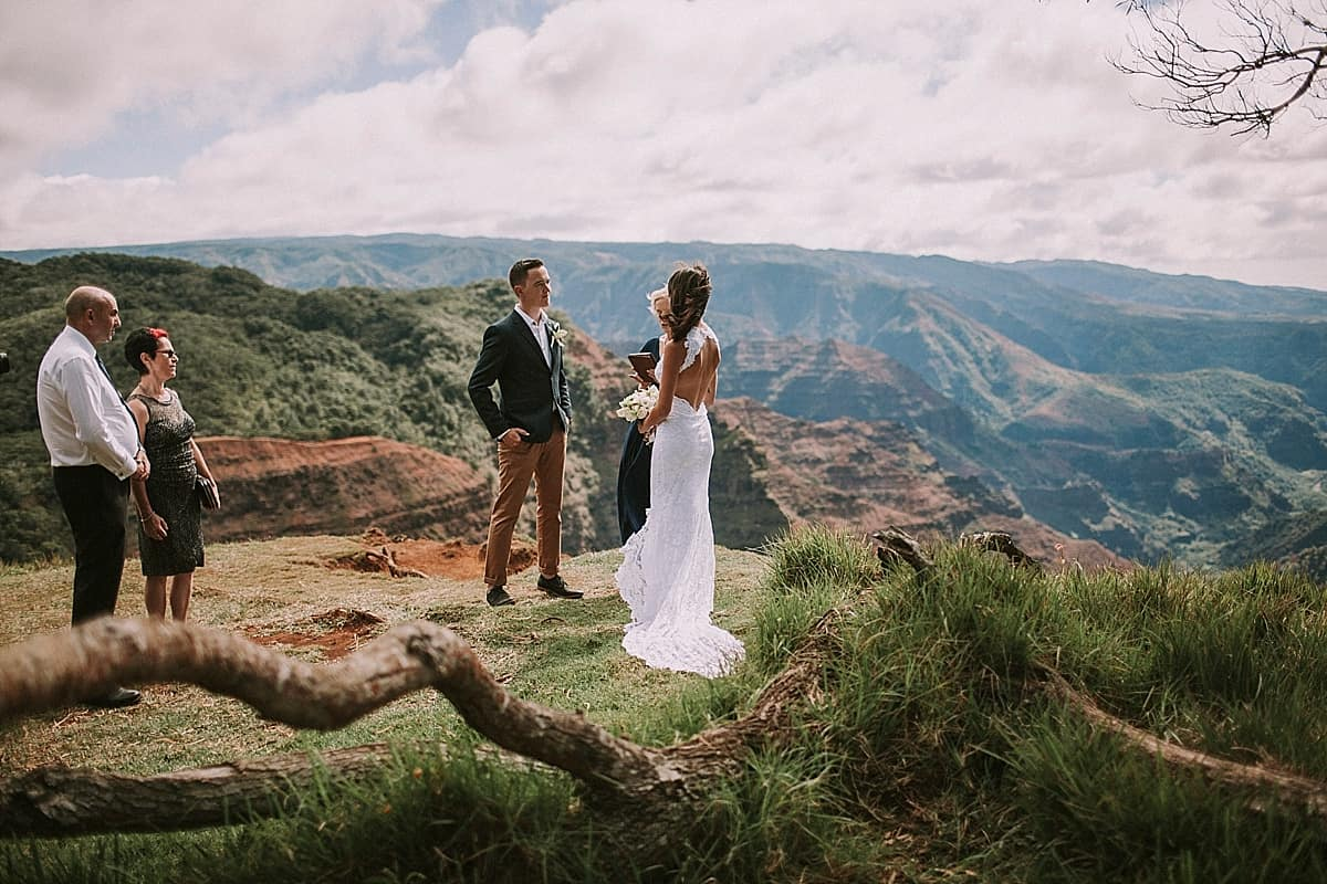 Kauai Waimea Canyon Hawaii Wedding Elopement 0007