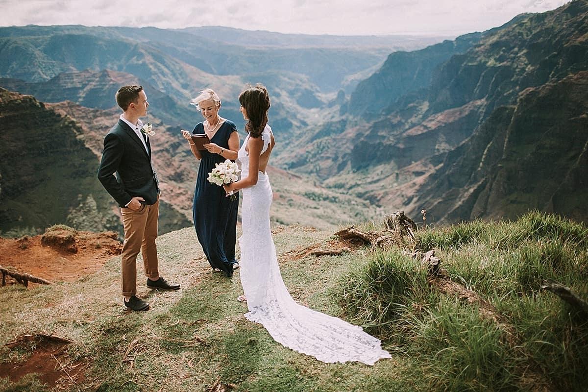 Kauai Waimea Canyon Hawaii Wedding Elopement 0008