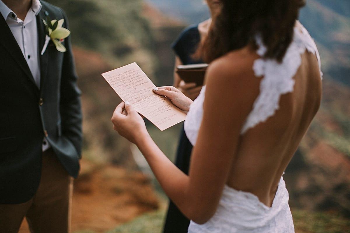 Kauai Waimea Canyon Hawaii Wedding Elopement 0010