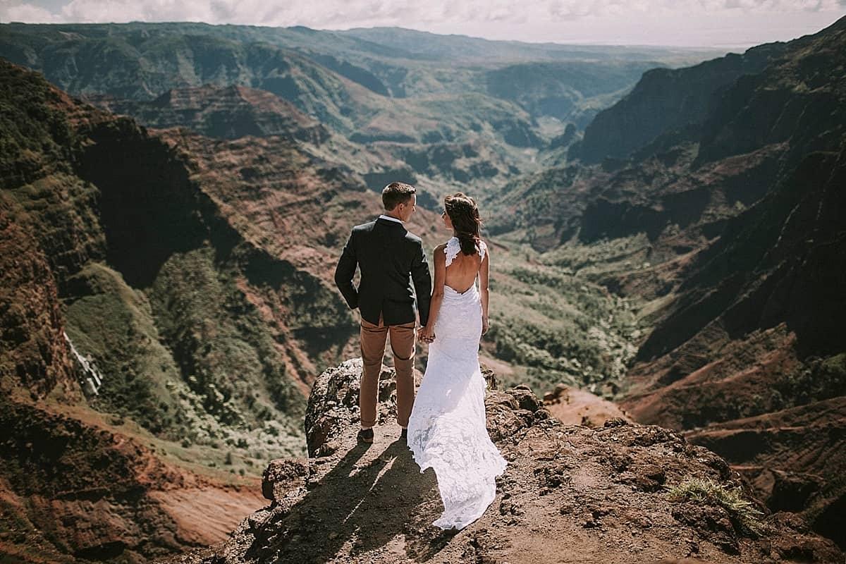 Kauai Waimea Canyon Hawaii Wedding Elopement 0018