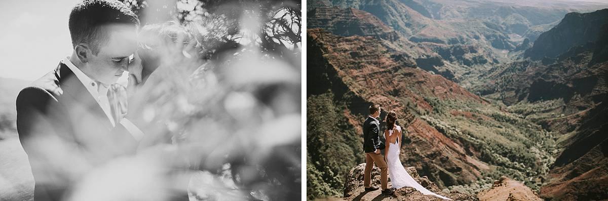 Kauai Waimea Canyon Hawaii Wedding Elopement 0019