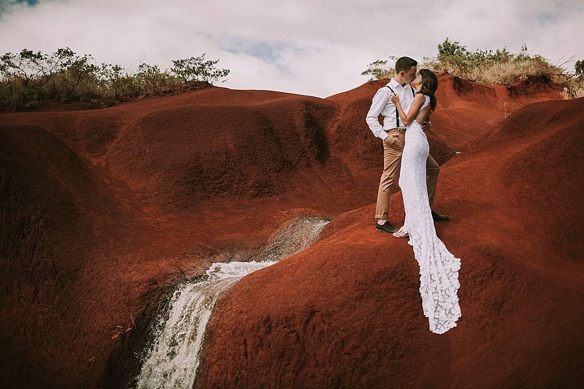 Kauai Waimea Canyon Hawaii Wedding Elopement 0024