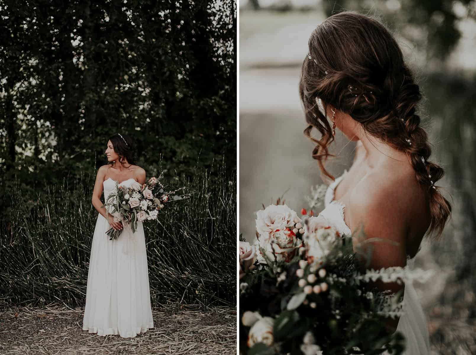 Northwest Oregon Classy Bohemian Country Wedding Victoria Carlson 0015