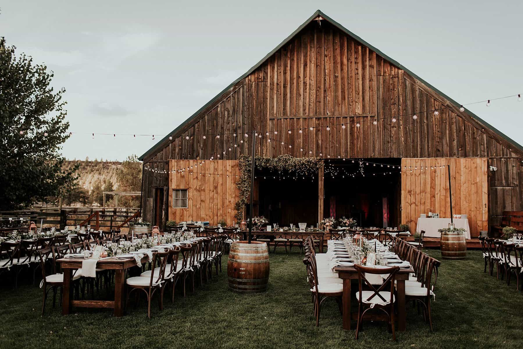 Heather Aaron Classy Rustic Bend Oregon Barn Wedding