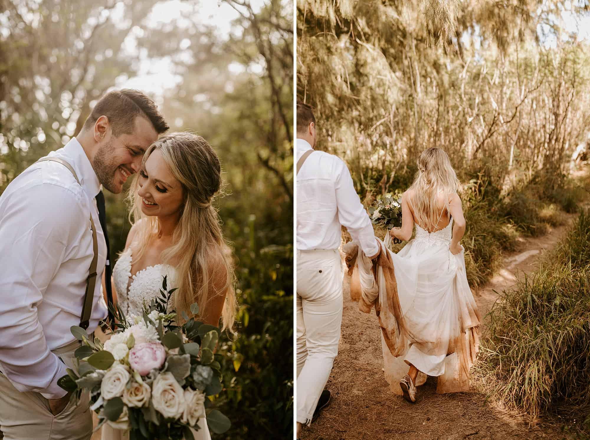 Kauai Hawaii Romantic Portraits Intimate Wedding