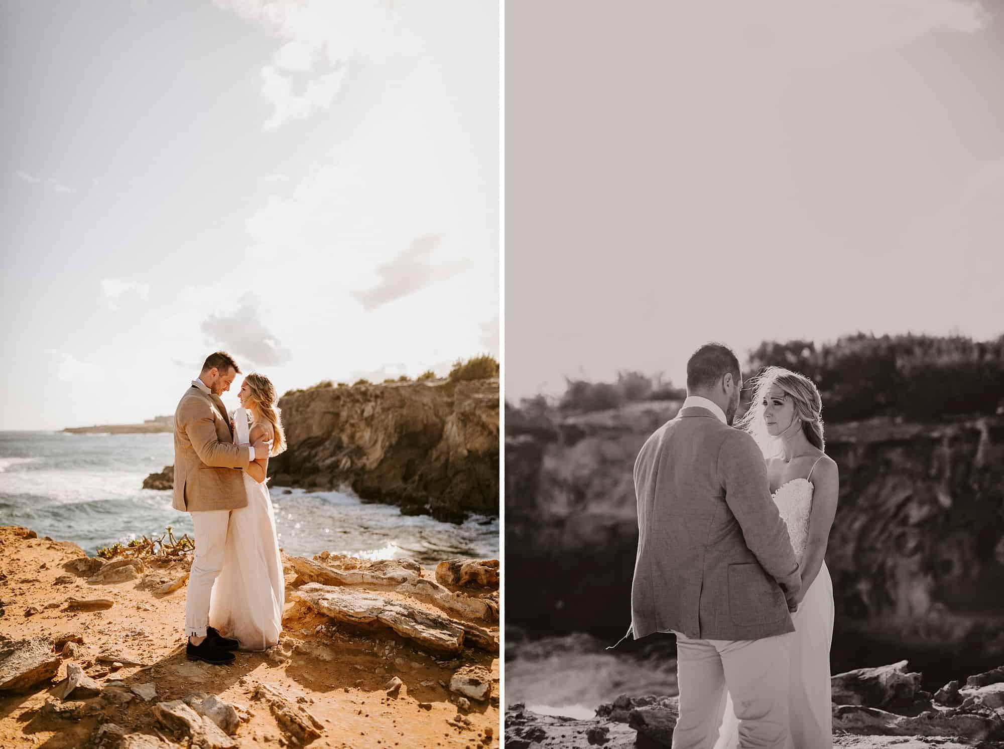 Kauai Hawaii Romantic Vow Reading Intimate Wedding