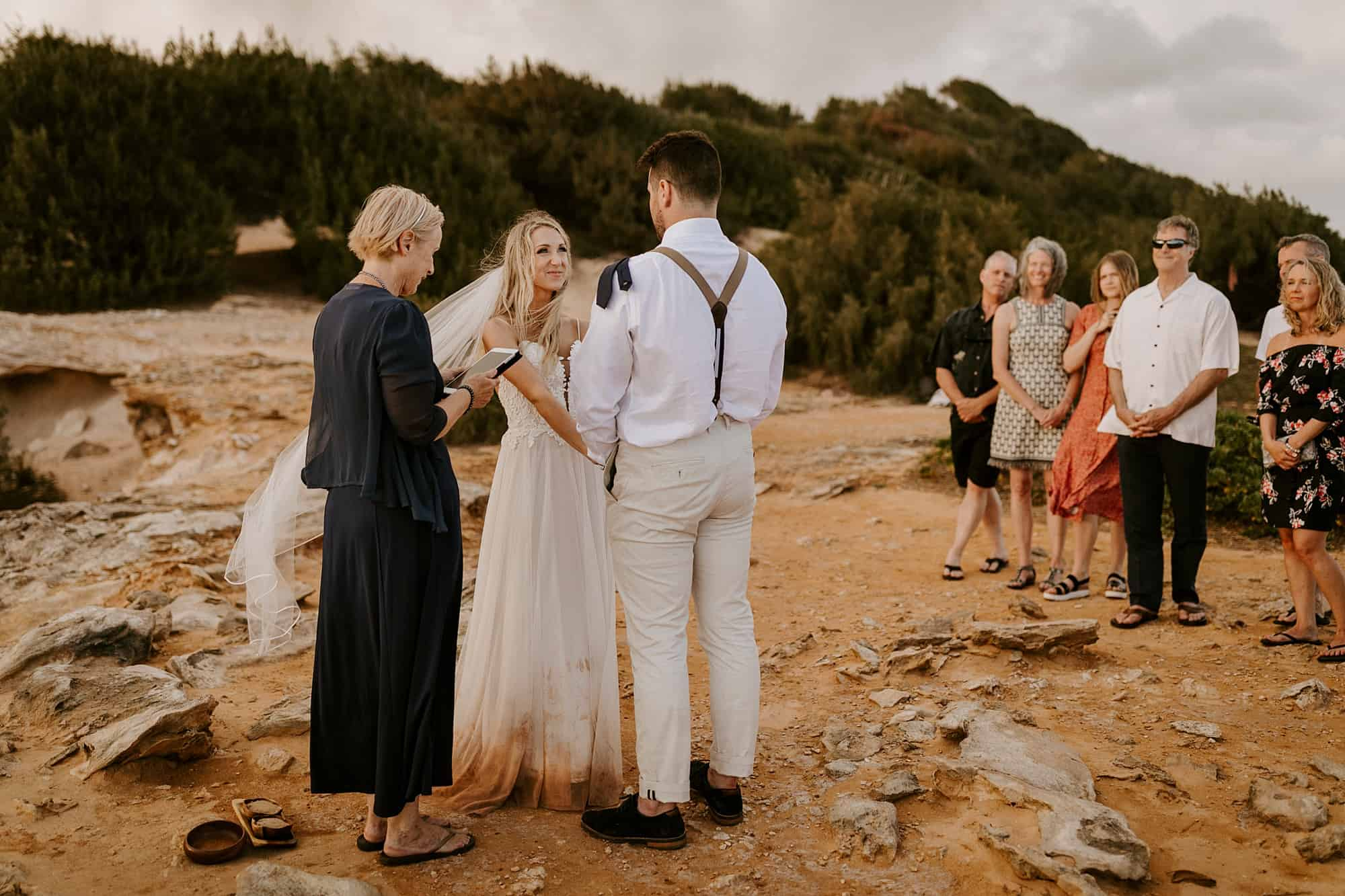 Kauai Hawaii Romantic Ceremony Intimate Wedding Shipwreck