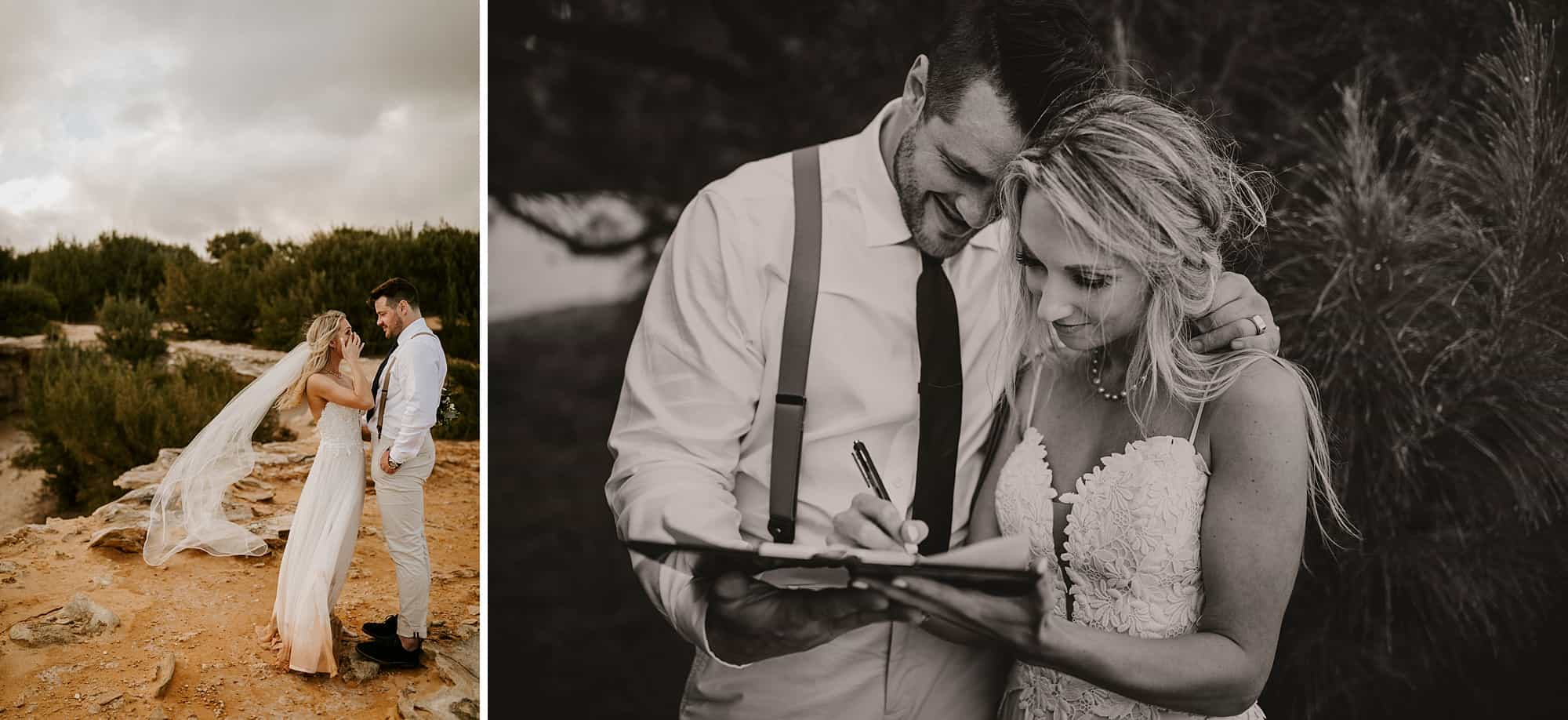 Kauai Hawaii Romantic Ceremony Intimate Wedding Shipwreck Beach