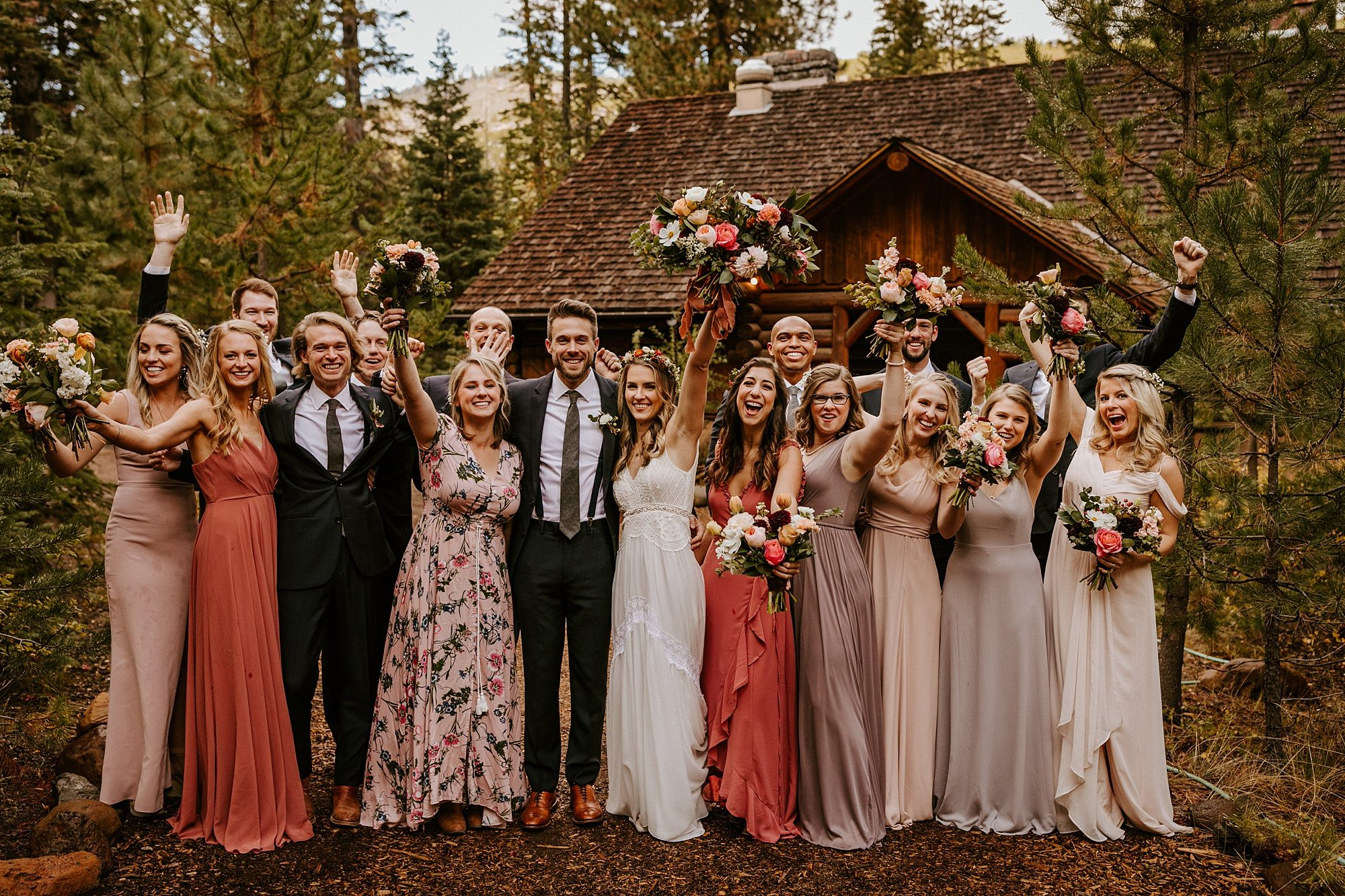 Bend Oregon Skyliner Lodge Wedding Party Victoria Carlson Photographer