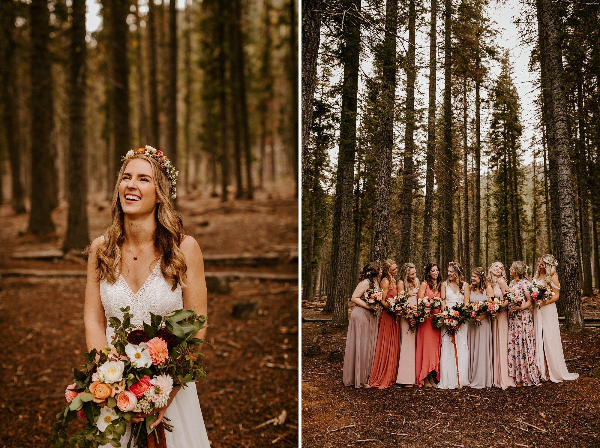 Bend Oregon Skyliner Lodge Bridesmaids Victoria Carlson Wedding Photographer